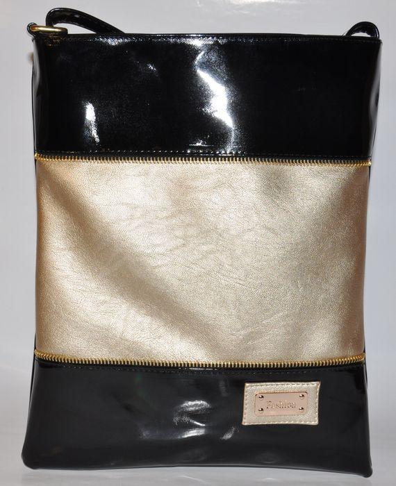 c9c8c452f6 Elegantná crossbody kabelka - čierno-zlatá - kabelkyaobuv.sk ...