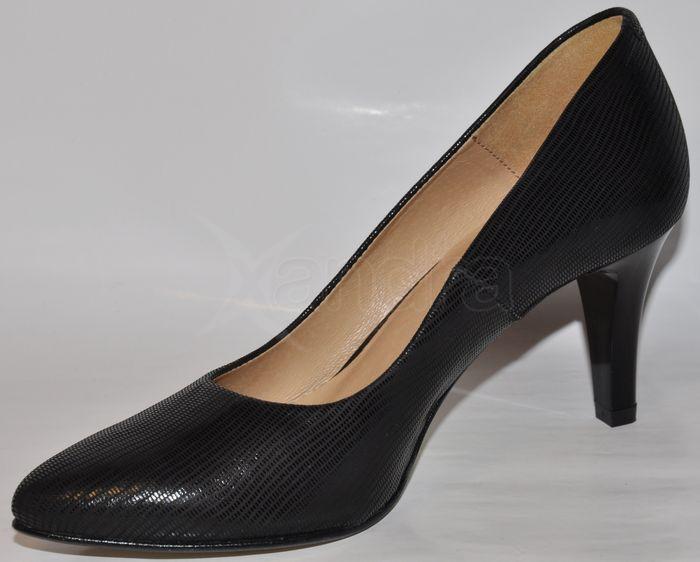 39a1526b2721 Elegantné kožené lodičky ESKA - čierne Elegantné kožené lodičky ESKA -  čierne