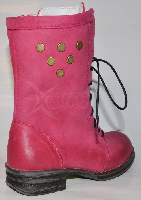 Detské kožené zateplené čižmy - rúžové Detské kožené zateplené čižmy -  rúžové ... cf8b88954dd