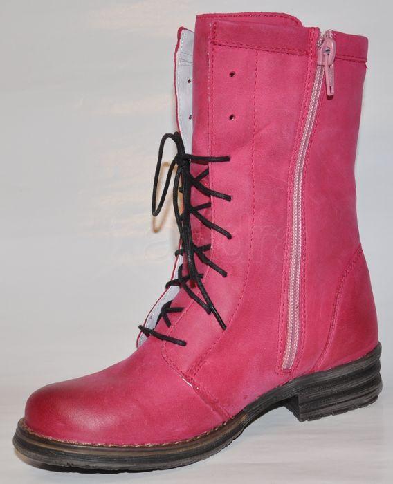 Detské kožené zateplené čižmy - rúžové - kabelkyaobuv.sk - Xandra ... db8039dfef0