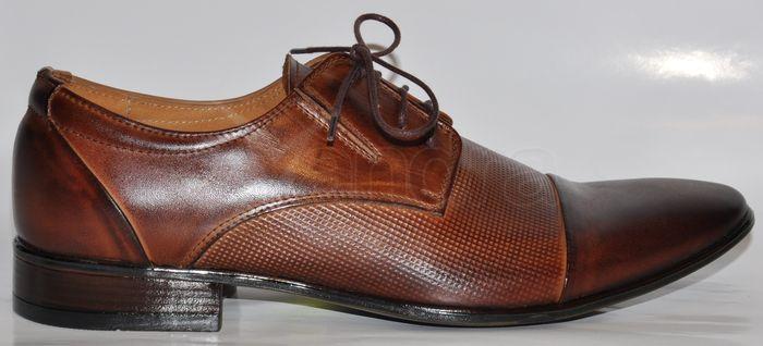 350ddd219aae4 Pánska kožená spoločenská obuv 162 - LAVAGGIO - hnedé - kabelkyaobuv ...