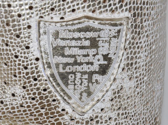 541155e430cf Kožené luxusné čižmy OLIVIA SHOES - zlaté - kabelkyaobuv.sk - Xandra ...