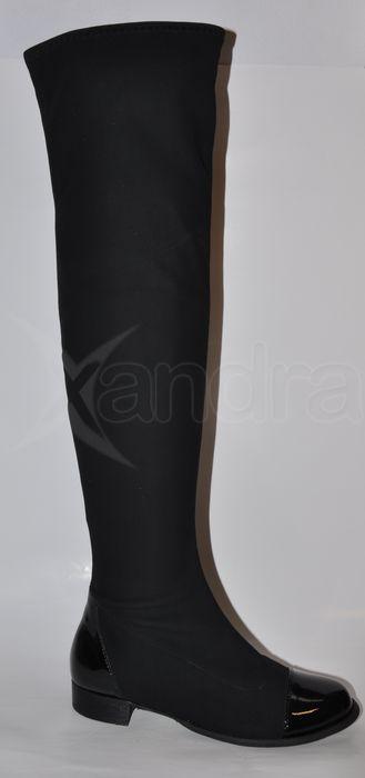 2527a2180ec3 Prechodné čižmy nad kolená ZAWADA - čierne - kabelkyaobuv.sk ...