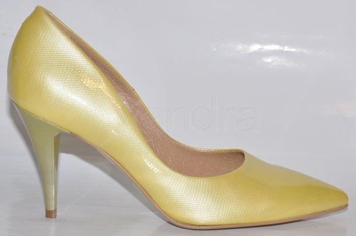 Dámske kožené lodičky CATALEYA - žlté - kabelkyaobuv.sk - Xandra e7cdbb32ee