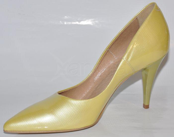 13813dbda4da Dámske kožené lodičky CATALEYA - žlté Dámske kožené lodičky CATALEYA - žlté
