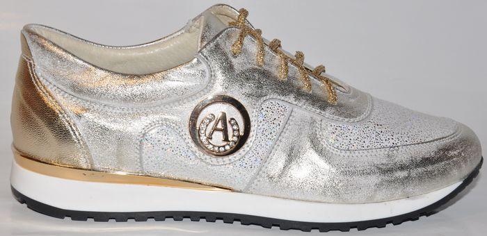 Dámske kožené tenisky - 500 OLIVIA SHOES - 8077 - zlaté ... 01cba190a28