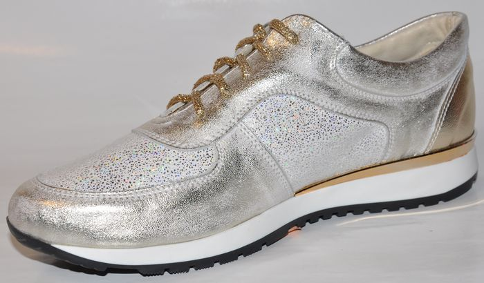 ... Dámske kožené tenisky - 500 OLIVIA SHOES - 8077 - zlaté ... ca6da9180a6