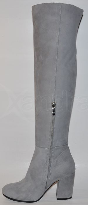 de14c2d830 Dámske kožené čižmy nad kolená BIZZARRO 8186 - šedé - kabelkyaobuv ...