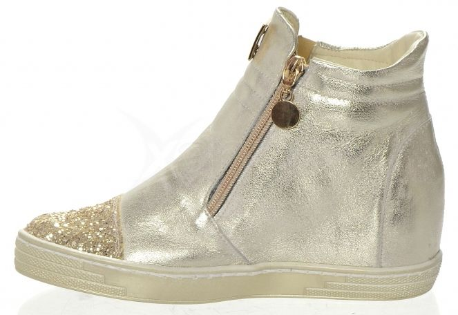 c3b8c671cec2 ... Kožená členková obuv K958 OLIVIA SHOES 8234 - jemne-zlaté ...