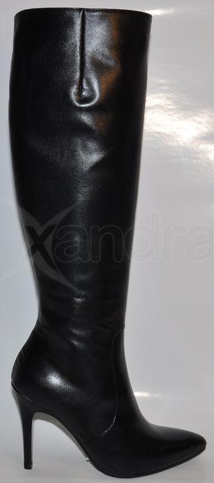 c61745cd6 Dámske kožené luxusné čižmy 8432 - čierne - kabelkyaobuv.sk - Xandra ...