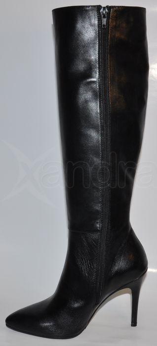 72f9dcf12d Dámske kožené luxusné čižmy 8432 - čierne - kabelkyaobuv.sk - Xandra ...