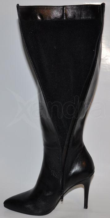 Dámske kožené luxusné čižmy 8432 - čierne - kabelkyaobuv.sk - Xandra ... 5f899ae6618