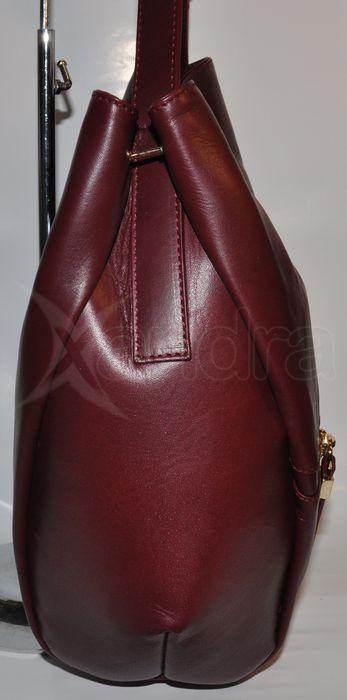 Dámska kožená kabelka 8442 - bordová - kabelkyaobuv.sk - Xandra 1d6853ca498