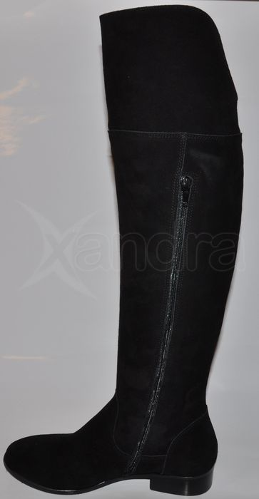 Dámske kožené čižmy nad kolená PRIMA 8615 - čierne - kabelkyaobuv.sk ... 0201e488421