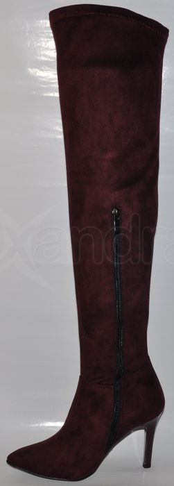 70d1bb1622 Dámske strečové čižmy nad kolená PRIMA 8669 - bordové - kabelkyaobuv ...