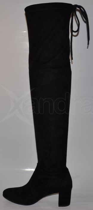4307659beb2c1 Dámske strečové čižmy nad kolená PRIMA 9174 - čierne - kabelkyaobuv ...