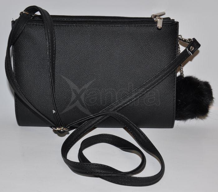 ... Dámska spoločenská kabelka Grosso s kožušinkou 9441 - čierna ... 9d3c8dbfcfe