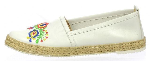bccf5775f ... Kožené balerinky Olivia Shoes s folklórnou výšivkou DBA028 - 9527 -  biele