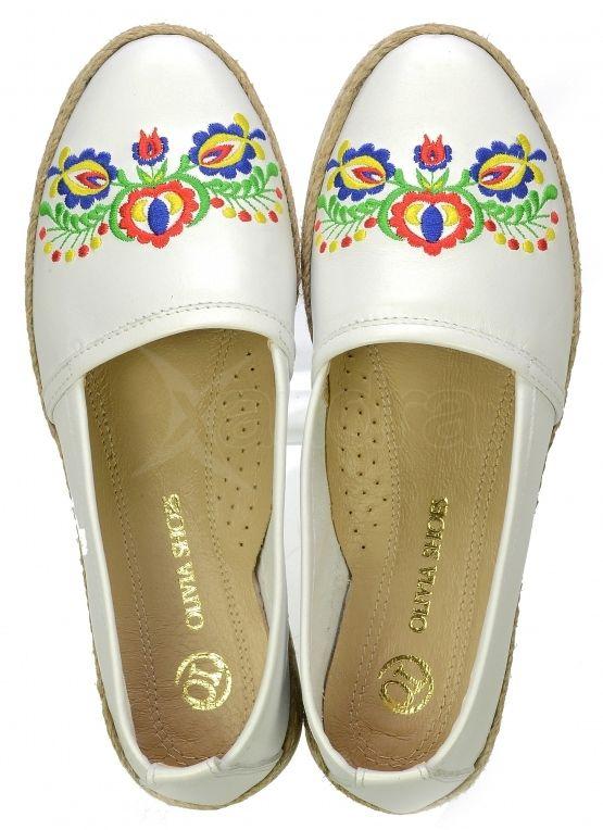 401cee319 Kožené balerinky Olivia Shoes s folklórnou výšivkou DBA028 - 9527 - biele  ...