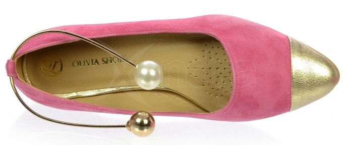 3171e565750f8 ... Dámske kožené balerinky Olivia Shoes DBA024 - 9533 - ružové ...