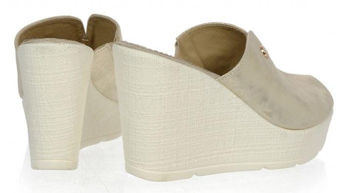 8f76edc681ac ... Dámske kožené vsuvky Olivia Shoes na kline DSL 077 - 9790 - zlaté ...