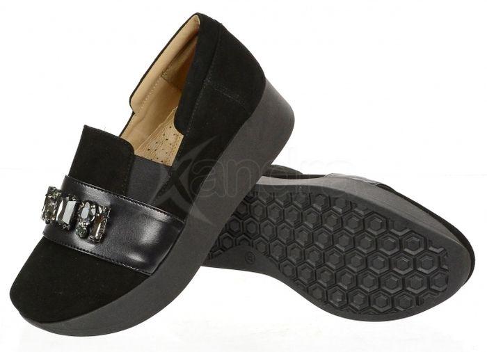 7e28d07dfb ... Dámske kožené poltopánky Olivia Shoes DTE065 - 9840 - čierne ...