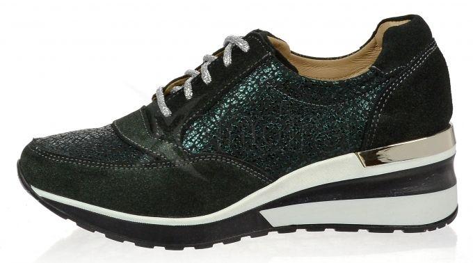 Dámske kožené tenisky Olivia Shoes CA500 - 9855 - tmavo zelené ... 28954acb756