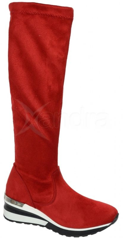 b7063ecda9 Dámske elastické čižmy Olivia Shoes DCI 29 - 9861 - červené ...