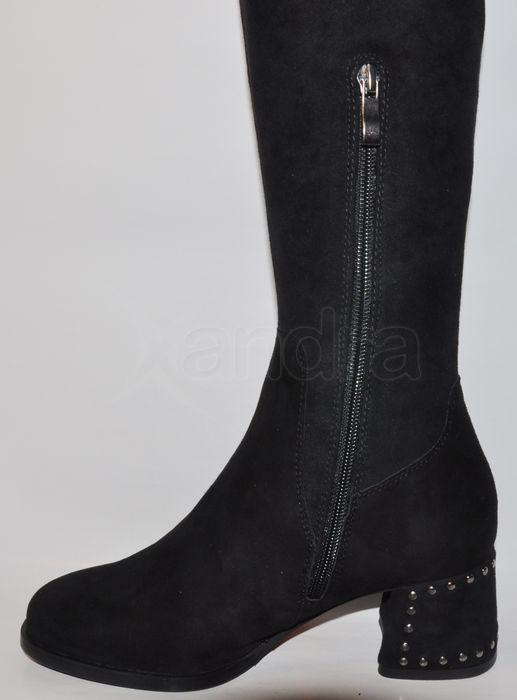 450f26a3f5 Dámske kožené čižmy nad kolená Palazzo 9870 - čierne - kabelkyaobuv ...