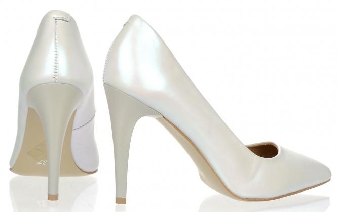 2a3ebb9efd3db Dámske kožené spoločenské lodičky Olivia Shoes 10072 - biele perleťové ...