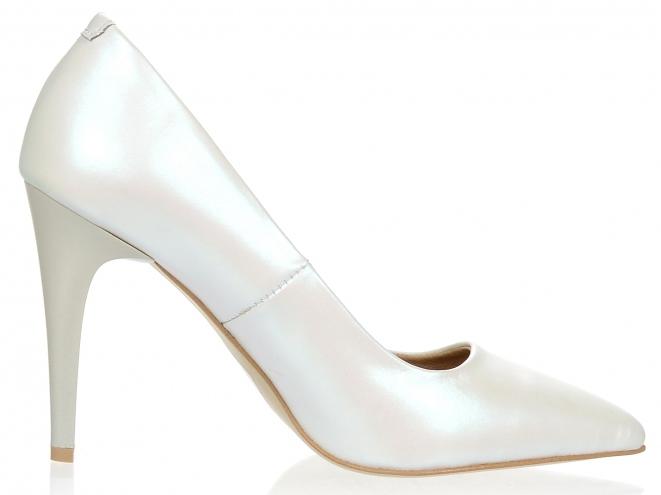 d7a006c8c189 ... Dámske kožené spoločenské lodičky Olivia Shoes 10072 - biele perleťové  ...