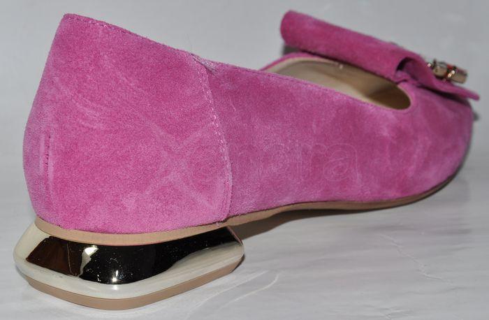 0219825145 Dámske exkluzívne dámske mokasíny - balerinky PRIMA 10163 s ozdobou - ružové  ...