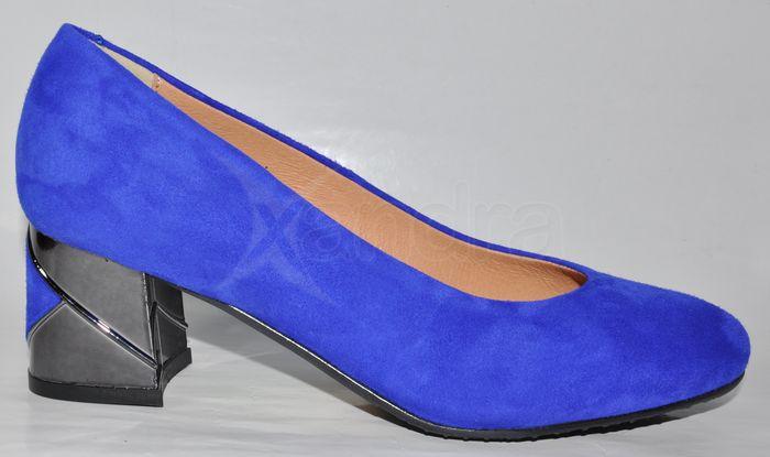4841e8b754f67 Dámske kožené lodičky 10215 - modré Dámske kožené lodičky 10215 - modré ...