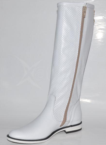 0baf7153e1 Biele čižmy OLÍVIA C63 - kabelkyaobuv.sk - Xandra