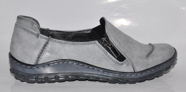 Dámska kožená vychádzková obuv - šedá Dámska kožená vychádzková obuv - šedá b682569dbf