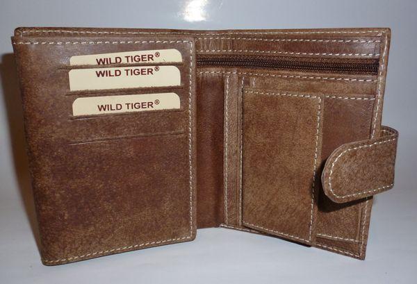 b96b6edf3 Pánska kožená peňaženka Wild Tiger- hnedá - kabelkyaobuv.sk - Xandra ...