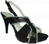 Spoločenské kožené sandálky - čierno-strieborné 69e4d84793e