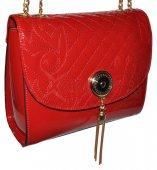 Spoločenská kabelka s jedinečnou retiazkou - červená 8b9c98a9b4e
