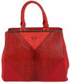 562b5e3d7f Štýlová kabelka DAVID JONES CM3033 - červená