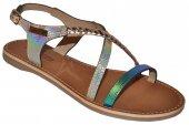 987c51f273b2 Dámske kožené sandálky Les Tropeziennes 8891 - modro-zlaté