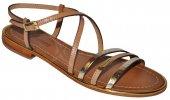 71556b233a1e Dámske kožené sandálky Les Tropeziennes 8892 - zlato-hnedé