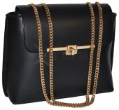 Dámska spoločenská kožená kabelka 8969 - čierna 04eaa19f3da