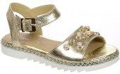 aae7b367cc17 Dámske kožené sandálky Olivia Shoes 9742 - zlaté
