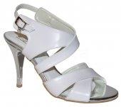 cb36af520cc5 Dámske spoločenské kožené sandálky PRIMA 9752 - biele