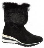 d6cc415ac1 Dámske kožené kotníky s kožušinkou Olivia Shoes DCI029 - 9902 - čierne