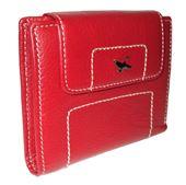 7ec602b961d3e xDámska kožená peňaženka - červená