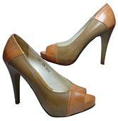 Kožené lodičky - hnedo-oranžové 0cd28b76046
